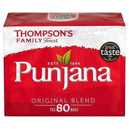 Thompsons Punjana Tea Bags 80 per pack - Pack of 6