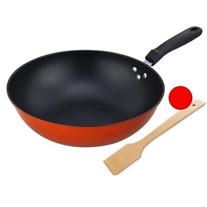 XiongDaDa Woks y sartenes salteados,Sartén Antiadherente sartén Reducir los Gases Utensilios de Cocina Multifuncional