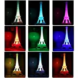 Acamifashion LED Light Up Eiffel Tower, Color Changing Night Light Desk Lamp Centerpiece Cake Topper Decoration Gift