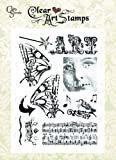 Crafty Secrets Small Art Stamp, Altered Art, Clear