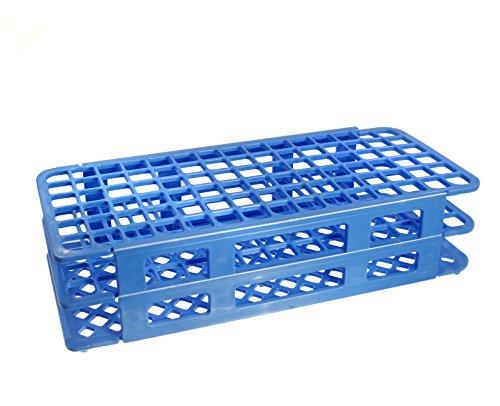KeL Scientfic KS-801 90 Hole 13 mm Blue Plastic Test Tube Rack Polypropylene, (13 Mm Tube Rack)