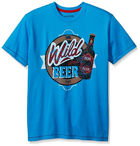 Little Blue House By Hatley Men's Short Sleeve Pajama Tee, Beer Bottles,...
