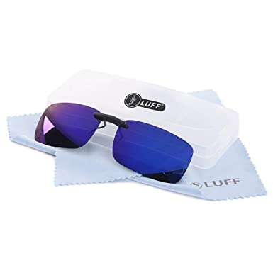 Polarizado Clip Unisex en Gafas de Sol para Anteojos Recetados-Buen Estilo de Clip Gafas de Sol para la Miopía Gafas al Aire Libre/Conducción/Pescar (blue): ...