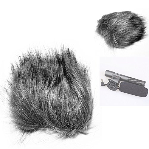 Fomito EN-4 12inch Furry Outdoor Microphone Windscreen Wind Cover Muff for Shenggu Shotgun SG-108 Microphone & Similar Mics - Gray