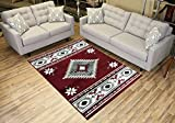 """Rug Styles AMACMF8000-5X7 Southwestern Red Area Rugs, 4'11"""" x 6'11"""" Review"""