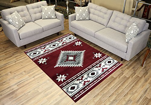Cheap  Comfy Collection Southwestern Design Area Rug Native American Traditional Rug 2 Different..