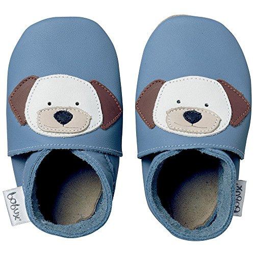 Bobux Leather Baby Shoes - Blue Dog - Large 15-21 (Bobux Suede Shoes)