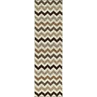 Momeni Rugs MESA0MES-5NAT2380 Mesa Collection, 100% Wool Hand Woven Flatweave Transitional Area Rug, 23 x 83 Runner, Natural Brown