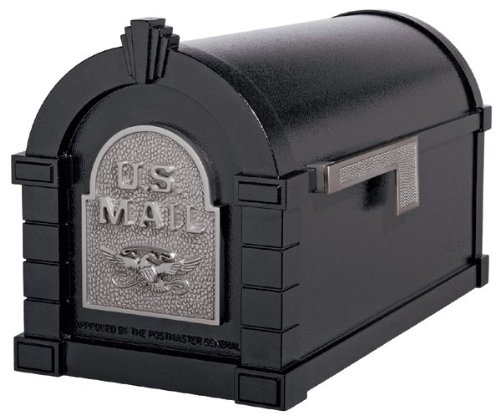 (Gaines KS-25A - Eagle Keystone Series Mailboxes - Black/Satin)