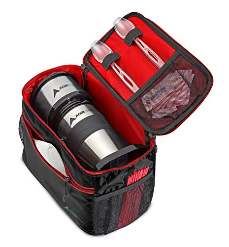 AdirChef Grab N Go Travel Pouch - Multi-Compartment for Mult-Storage Use, Perfectly Designed for AdirChef Personal Coffee Maker for Travelling, Outdoor, On the Go & Camping (Red) (Ipod Coffee Maker)