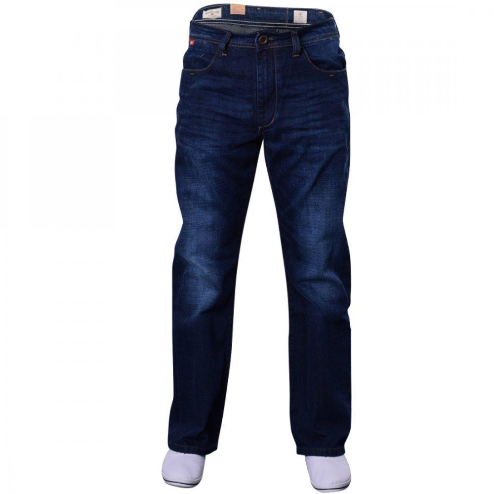 2c227854 Lee Cooper Men's Bootcut Flared Wide Bottom Loose Fit Denim Jeans Zip Fly  Waist 32 Leg 34