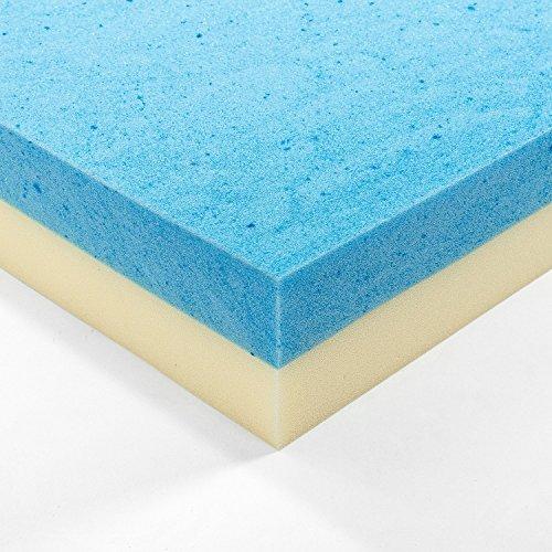 zinus 4 inch gel memory foam mattress topper full buy online in uae home garden products. Black Bedroom Furniture Sets. Home Design Ideas