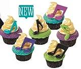 Music Notes Cupcake Topper Picks - Set of 6