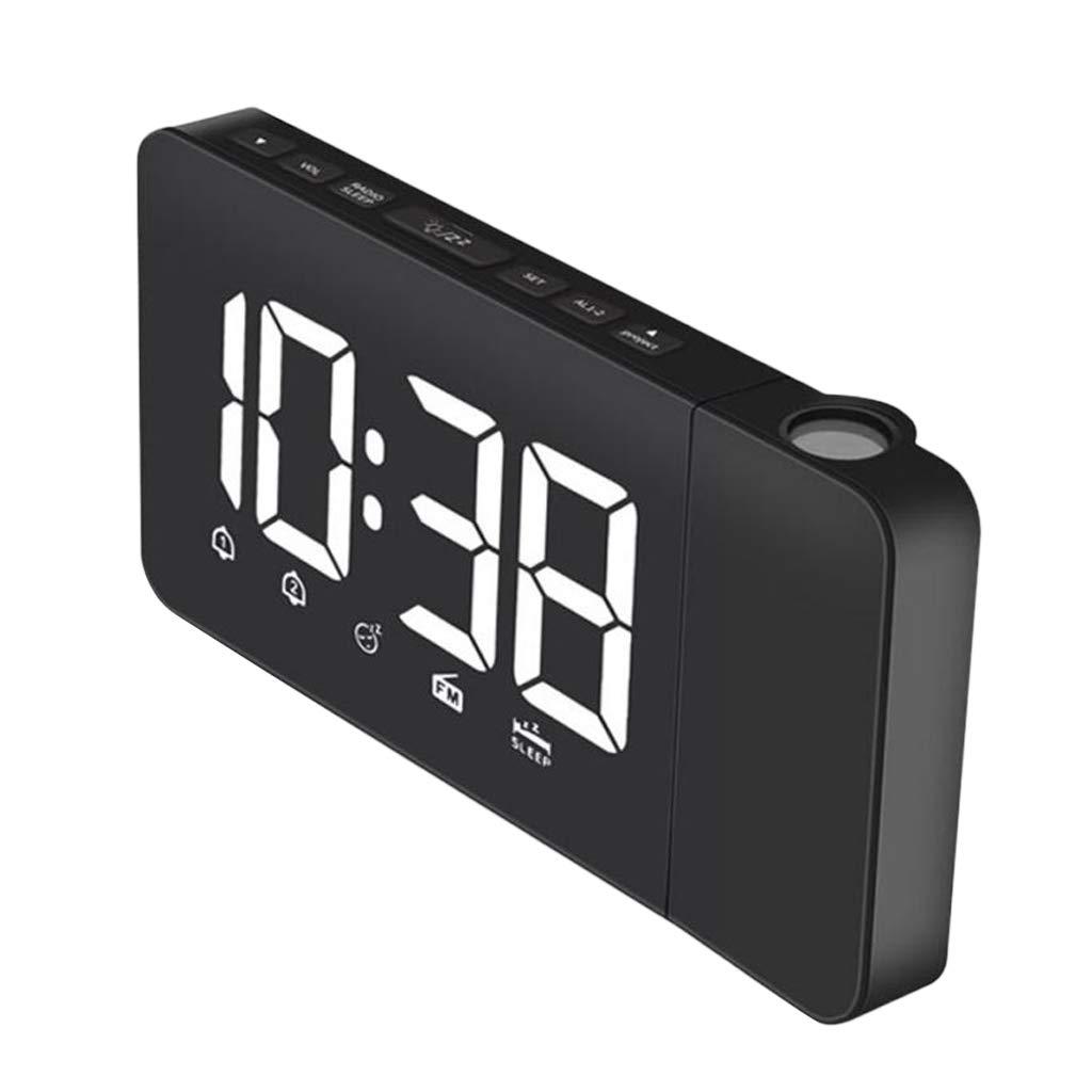perfeclan Reloj Despertador Horas Projector Radio Am / FM ...