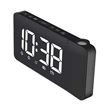 perfeclan Reloj Despertador Horas Projector Radio Am / FM ...