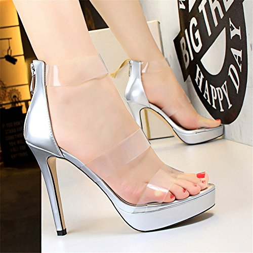 Lady Closure Füße MONAcwe Sommer Schuhe High Party Heels Tip Sexy Schuhe Sandalen Schnalle Heel 80gC0at
