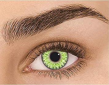 Lentes de moda para hombres y mujeres, lentes de contacto de color natural de 1 año de uso sin graduación FRESH GEMSTONE GREEN (2 lentillas por caja): Amazon.es: Salud y cuidado personal