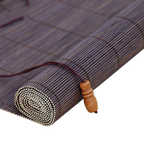 (LIQICAI Roll Up Blinds Bamboo Roller Blinds Sun Shading Bamboo Curtain for Window Doorways Partition Patio Porch Waterproof, Customizable (Size : 130X180CM))