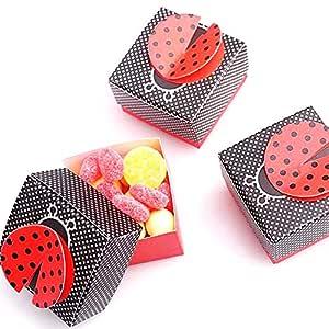 JZK 50 x cajas para bombones regalo de boda favores baby shower cumpleaños graduación bautizo navidad comunión partido o varias ocasiones, ideal para ...