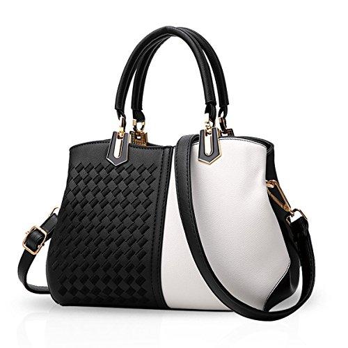 Blanc Noir Femmes main PU NICOLE Sacs Blanc Sac d'épaule à Sac Sac Noir amp;DORIS bandoulière Messenger 6pRx5wRqZ