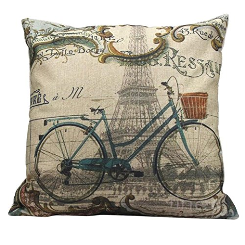 Gotd Halloween Decorations Decor Square Linen Blend Halloween Pillow Case Sofa Waist Throw Cushion Cover Home Decor 45cm 18inch (B) -