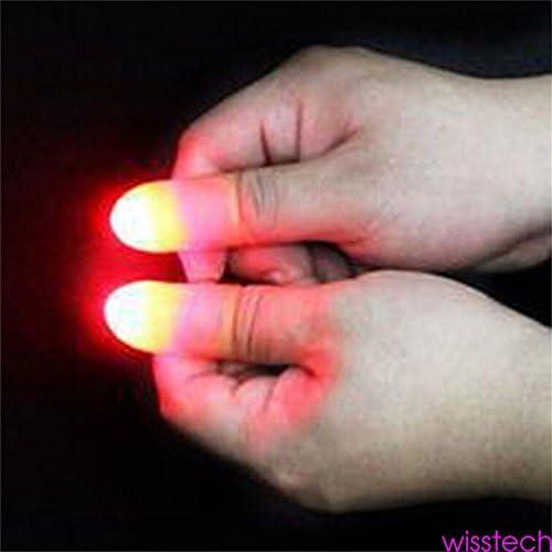 1 Pair LED Finger Thumb Light Magic Trick Prop Party Bar Flashlight Magician Toy