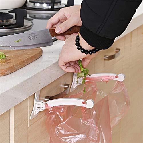 Cupboard Stuck Gabage Bag Support Frame Tailgate Litter Bags Hook Stand Rack Hanger for Trash Rubbish Storage Bag ()