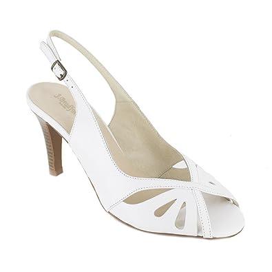 J.bradford Sandale  Cuir  JB-AITANA Blanc - Livraison Gratuite avec  - Chaussures Sandale Femme