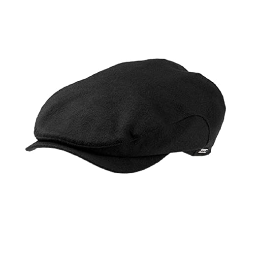 Wigens 100% Cashmere Longshoreman Style Cap - Black - 58 at Amazon Men s  Clothing store  Newsboy Caps ee2de2b2d76f