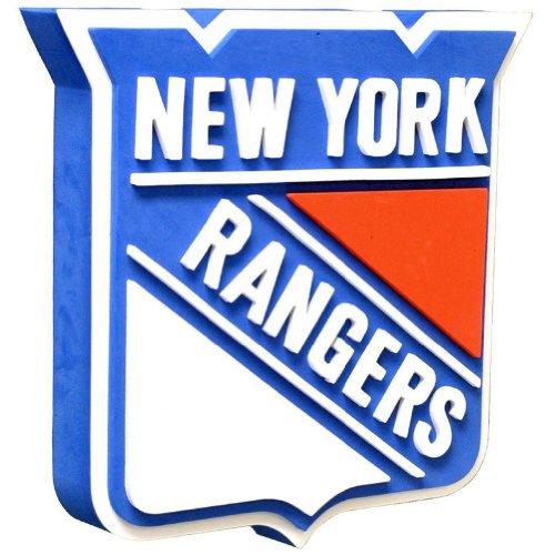 NFL New York Rangers 3D Foam Wall Sign, One Size, Black ()