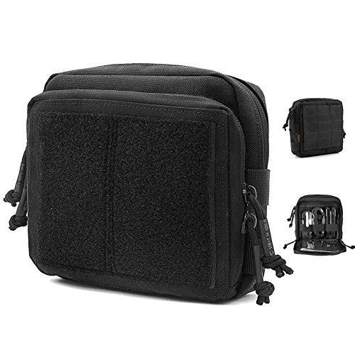 REEBOW GEAR EDC Tactical Admin Pouch Molle Military Map Tool Bag Organizer Black