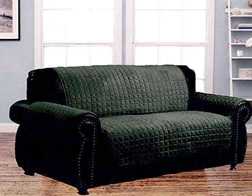 - Dormire Microsuede Quilted Furniture Protector for Loveseat - Machine Washable - 70
