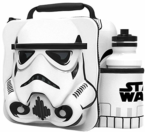(Star Wars Storm Trooper 3d Thermal Lunch Bag With Sports Bottle)