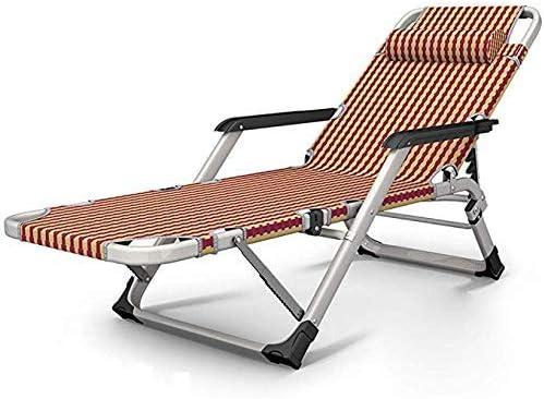 NBVCX Piezas mecánicas Tumbona Respaldo Sillón Jardín Patio Playa Tumbona Silla de Camping Silla de Ocio Mujer Embarazada Reclinable Tumbona Plegable al Aire Libre C