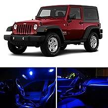 CCIYU Ultra Blue 5050LED Light Interior Package Bulb Kit For 2007-2015 Jeep Wrangler