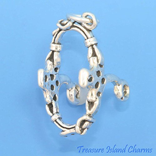 925 Sterling Silver Polished & Flat Cut Out Horse Charm Sale Price Precious Metal Without Stones