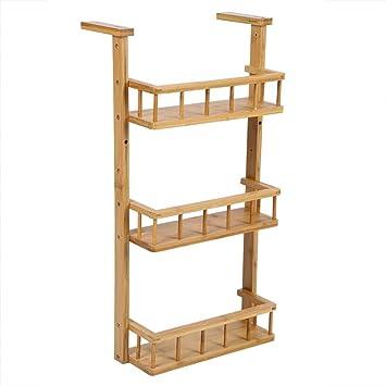 3 Estantes Estantería de cocina, organizador para estantes carrito para el baño pensili multifunción de cocina de bambú natural: Amazon.es: Bricolaje y herramientas