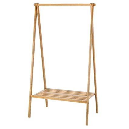 Perchero de 1 balda nórdico marrón de bambú para Cuarto de ...