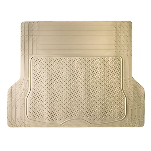 COPAP Beige Heavy Duty Rubber Cargo Liner Floor Mat All Weather Trunk Protection water resistant Trimmable to Fit