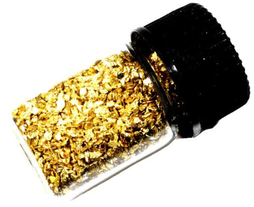 1.000 Grams Alaskan Yukon BC Natural Pure Gold Nuggets with 2ml glass bottle (#B300) (Natural Gold Nugget)