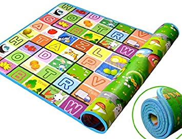 Sevia Baby Grow Waterproof Baby Crawling Play Floor Mat Double Side Prined Toddler Play Mat (120 X 180 x 5 cm)
