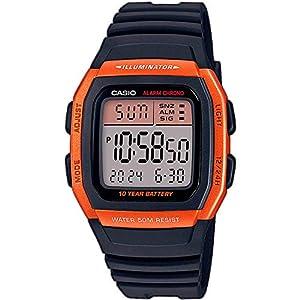 Casio Men's Digital Quartz Watch with Plastic Strap W-96H-4A2VEF