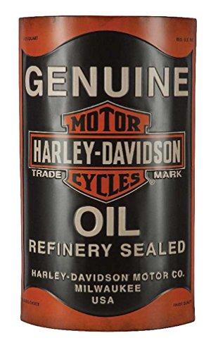 Harley-Davidson Embossed Distressed Oil Can Bar & Shield Metal Sign, HDL-15511 -