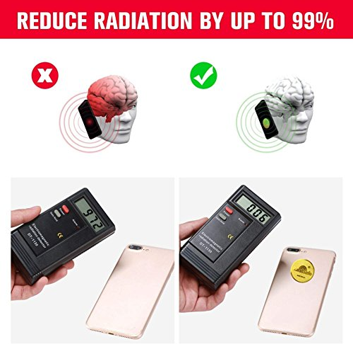 Anti Radiation EMF Shield - EMF Protection Blocker, 24K Gold Plated,  Extremely Slim, EMR Neutralizer Sticker for Use On All EMF Devices: Cell  Phones,