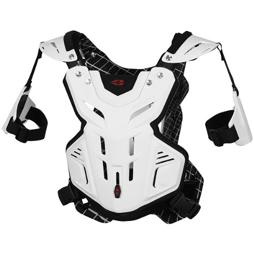 EVS F2 Modular Adult Roost Guard MotoX Motorcycle Body Armor - White / Medium by EVS