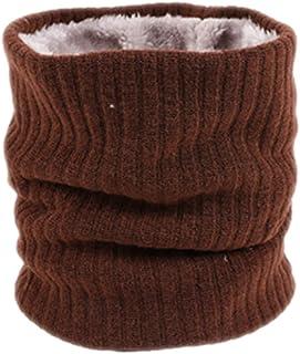 Zedo Bufanda de puro algodón, Bufanda mujer, bufanda hombre, bufanda niña,Bufanda calentadora de cuello para viajar al aire libre en otoño y en invierno, Tejido de felpa, 46 * 22cm Marron bufanda niña ZKIPT7101140BQ88ZT2