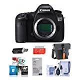 Canon EOS 5DS R DSLR Camera Body - Bundle with Camera Bag, 64GB Class 10 SDXC Card, Cleaning Kit, SD Card Reader, Screen Protector, Software Bundle