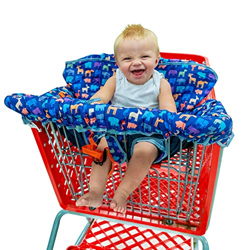 Busy Bambino 2-in-1 Shopping Cart Cover | High Chair Cover for Baby | Now in a beautiful animal print! -
