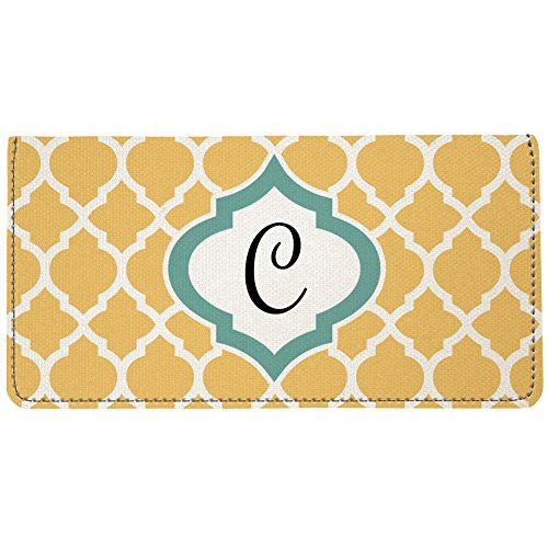 Snaptotes Moroccan Personalized Monogram Checkbook Cover