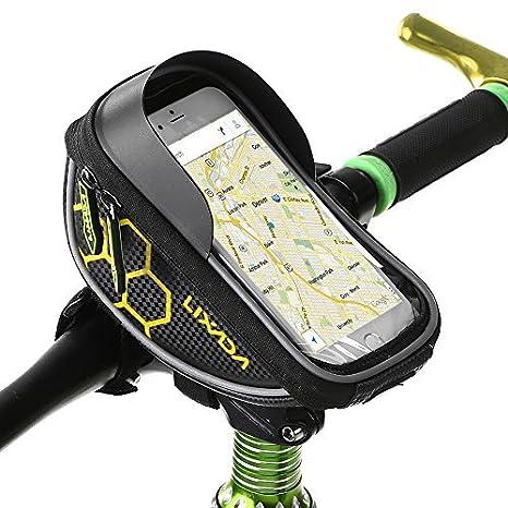 Lixada Borsa Telaio Bici, Wheel Up 6 inch Touchscreen Porta Cellulare Bici,Bicicletta Borsa Manubrio… Bicicletta Borsa Manubrio...